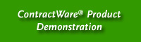 ContractWare® Product Demonstration
